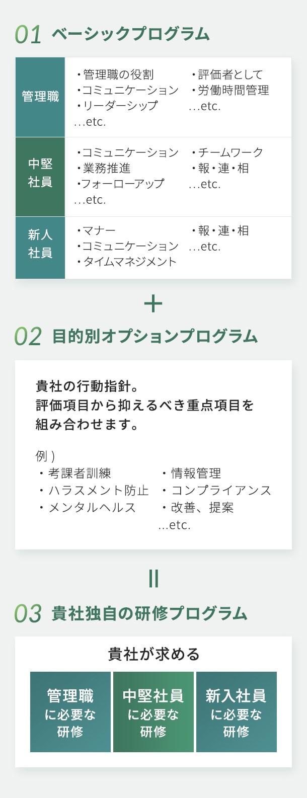 階層別研修プログラムイメージ